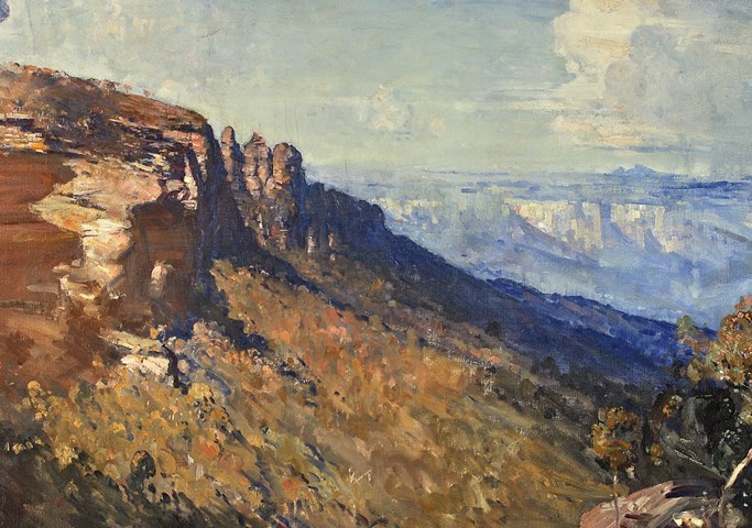 Arthur Streeton: Blue and Gold